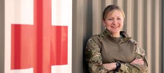 Army Reservist Medical Officer at Camp Shorabak, Afghanistan
